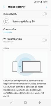 Configura el hotspot móvil - Samsung Galaxy S8 - Passo 8