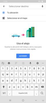 Uso de la navegación GPS - Samsung Galaxy A80 - Passo 13