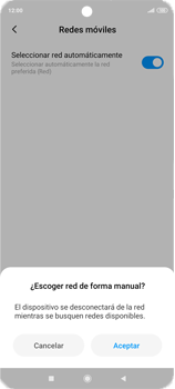 Cómo seleccionar una red en tu teléfono manualmente - Xiaomi Redmi Note 9 Pro - Passo 9