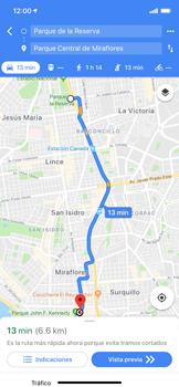 Uso de la navegación GPS - Apple iPhone XS Max - Passo 17