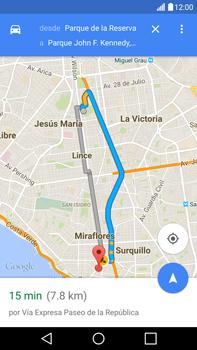 Uso de la navegación GPS - LG V10 - Passo 17