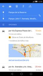 Uso de la navegación GPS - Huawei Ascend Mate 7 - Passo 14