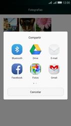Transferir fotos vía Bluetooth - Huawei G Play Mini - Passo 9