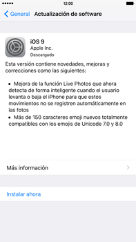 Actualiza el software del equipo - Apple iPhone 6s Plus - Passo 6