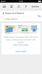 Uso de la navegación GPS - Apple iPhone 5s - Passo 15