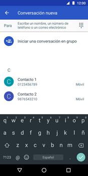 Envía fotos, videos y audio por mensaje de texto - Motorola Moto G6 Play - Passo 4