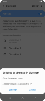 Conecta con otro dispositivo Bluetooth - Samsung Galaxy A80 - Passo 8