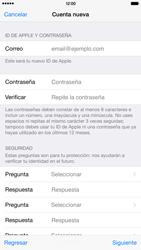 Crea una cuenta - Apple iPhone 6 Plus - Passo 11