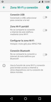 Comparte la conexión de datos con una PC - Motorola Moto G6 Plus - Passo 7