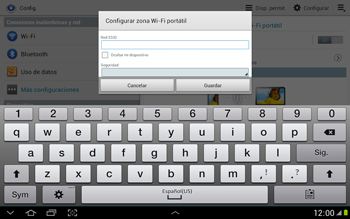 Configura el hotspot móvil - Samsung Galaxy Note 10-1 - N8000 - Passo 8