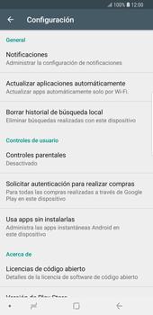 Cambiar configuración de actualizaciones de aplicaciones - Samsung Galaxy S9 Plus - Passo 7