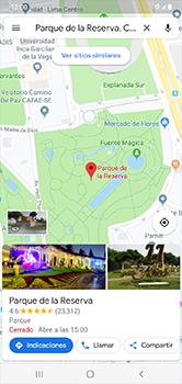 Uso de la navegación GPS - Samsung Galaxy A10 - Passo 9