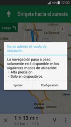 Uso de la navegación GPS - Samsung Galaxy A3 - A300M - Passo 18