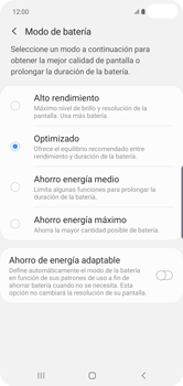 Modo de ahorro de batería - Samsung S10+ - Passo 6