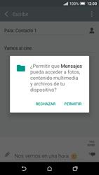 Envía fotos, videos y audio por mensaje de texto - HTC One A9 - Passo 13