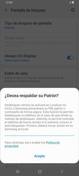 Desbloqueo del equipo por medio del patrón - Samsung Galaxy A80 - Passo 12