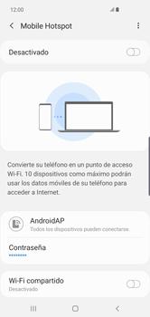 Configura el hotspot móvil - Samsung S10+ - Passo 12