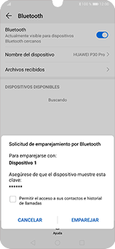 Conecta con otro dispositivo Bluetooth - Huawei P30 Pro - Passo 7