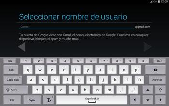Crea una cuenta - Samsung Galaxy Note Pro - Passo 7