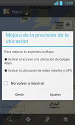 Uso de la navegación GPS - LG Optimus L 7 II - Passo 4