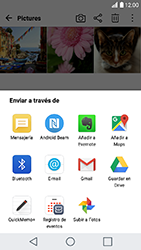 Transferir fotos vía Bluetooth - LG K10 2017 - Passo 8