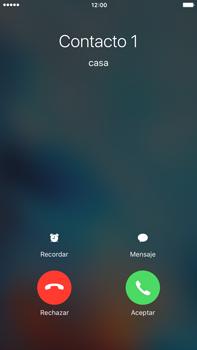Contesta, rechaza o silencia una llamada - Apple iPhone 6s Plus - Passo 3