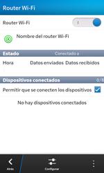 Configura el hotspot móvil - BlackBerry Z10 - Passo 15