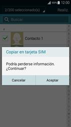 ¿Tu equipo puede copiar contactos a la SIM card? - Samsung Galaxy A3 - A300M - Passo 12