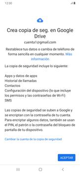 Realiza una copia de seguridad con tu cuenta - Samsung Galaxy A30 - Passo 10