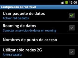 Configura el Internet - Samsung Galaxy Y Pro GT - B5510 - Passo 7
