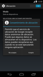 Uso de la navegación GPS - Motorola Moto E (1st Gen) (Kitkat) - Passo 11