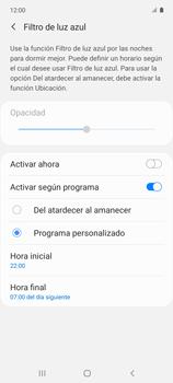 Cómo activar el modo Descanso visual para evitar la fatiga visual - Samsung Galaxy A51 - Passo 7