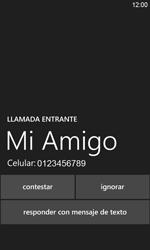 Contesta, rechaza o silencia una llamada - Nokia Lumia 820 - Passo 5