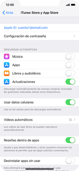 Cambiar configuración de actualizaciones de aplicaciones - Apple iPhone XS Max - Passo 3