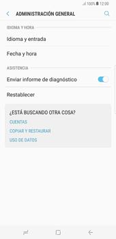 Restaura la configuración de fábrica - Samsung Galaxy S8+ - Passo 5