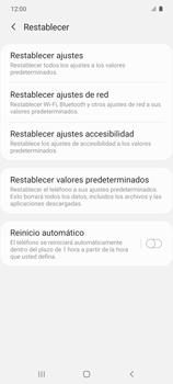 Restaura la configuración de fábrica - Samsung Galaxy S10 Lite - Passo 6