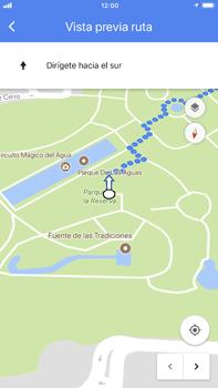 Uso de la navegación GPS - Apple iPhone 8 Plus - Passo 16
