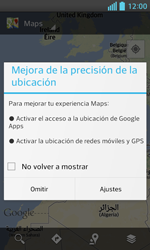 Uso de la navegación GPS - LG Optimus L5 II - Passo 4