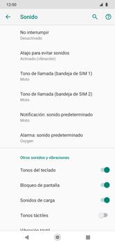 Configuración de tono de llamada - Motorola Moto G8 Play (Single SIM) - Passo 10