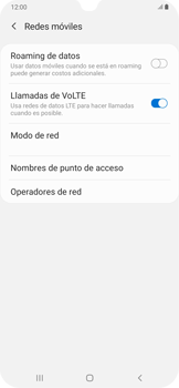 Activa o desactiva el roaming de datos - Samsung Galaxy A30 - Passo 7
