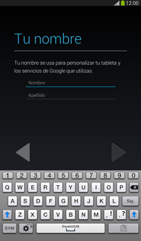 Crea una cuenta - Samsung Galaxy Tab 3 7.0 - Passo 4