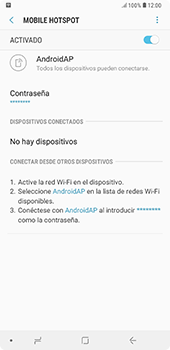 Configura el hotspot móvil - Samsung A7 2018 - Passo 12