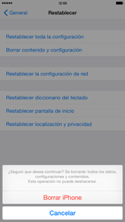 Restaura la configuración de fábrica - Apple iPhone 6 - Passo 7