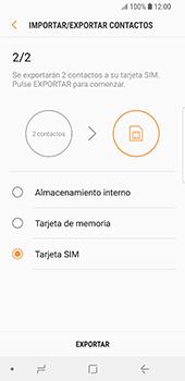 ¿Tu equipo puede copiar contactos a la SIM card? - Samsung Galaxy S9 - Passo 12