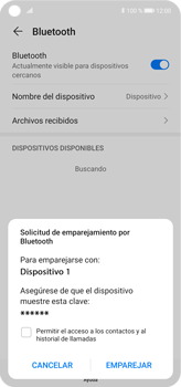Conecta con otro dispositivo Bluetooth - Huawei P40 Lite - Passo 6