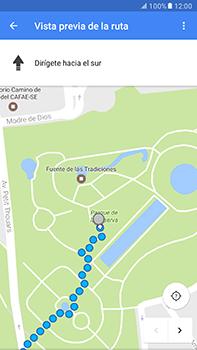 Uso de la navegación GPS - Samsung Galaxy A7 2017 - A720 - Passo 16