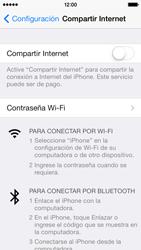 Configura el hotspot móvil - Apple iPhone 5c - Passo 7