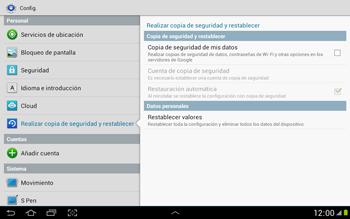 Restaura la configuración de fábrica - Samsung Galaxy Note 10-1 - N8000 - Passo 5