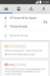 Uso de la navegación GPS - LG L40 - Passo 14