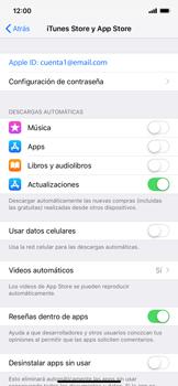 Cambiar configuración de actualizaciones de aplicaciones - Apple iPhone XS Max - Passo 4